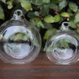 Location décoration boule en verre à suspendre
