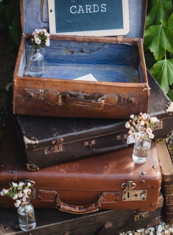 Location decoration valise vintage