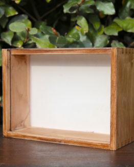 Location décoration boite bois plexi