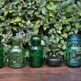 Location décoration carafes vertes