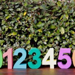 Location décoration chiffre 3D