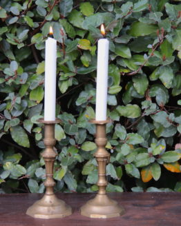 Location décoration bougeoirs dorés vintage
