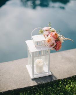 Location décoration lanterne blanche